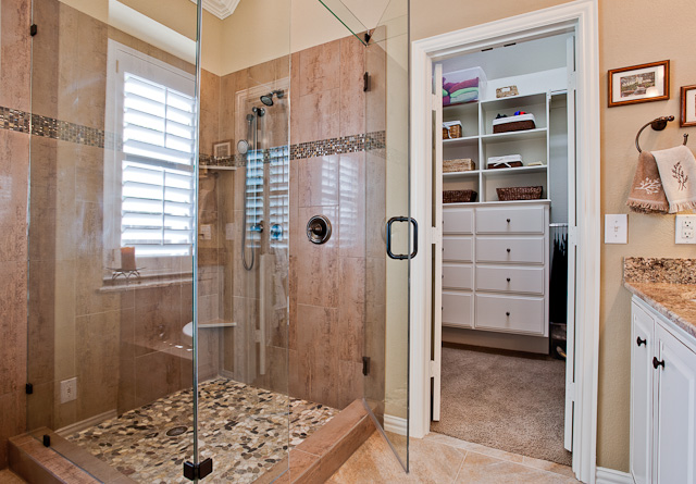 Home remodeling ideas and pictures dfw improved 972 377 7600 for Master bath and closet plans