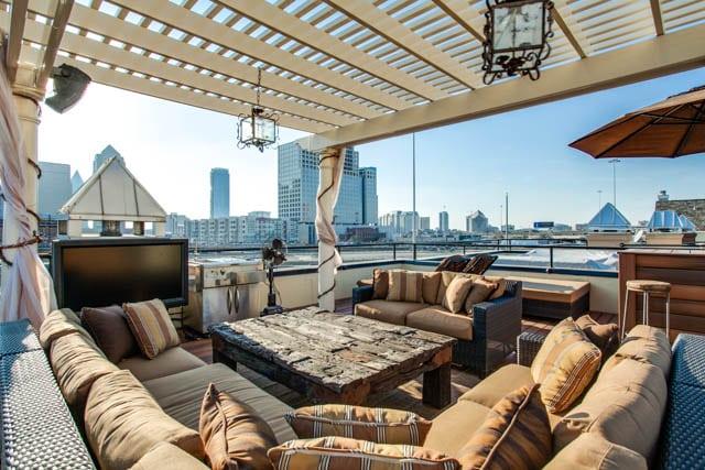 urban rooftop outdoor space