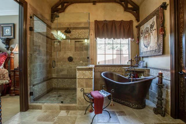 Old world master bathroom dfw improved 972 377 7600 for Old world bathroom ideas