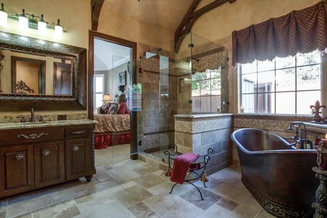 Old world master bathroom dfw improved 972 377 7600 for Bath remodel frisco tx