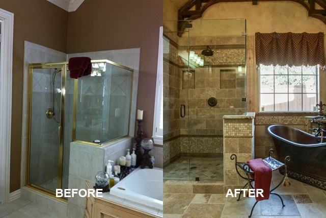 Old world master bathroom dfw improved 972 377 7600 Master bathroom remodel before and after
