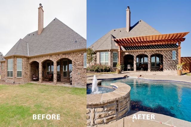NewCustomHome&Pool Before After