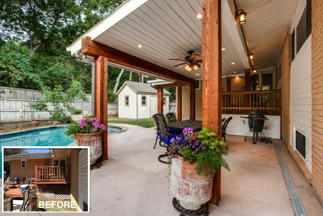 New Covered Backyard Patio and Swimming Pool with Cool Deck