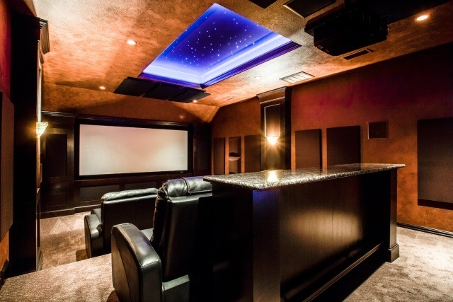 Lighting and Accents in New Theater Room
