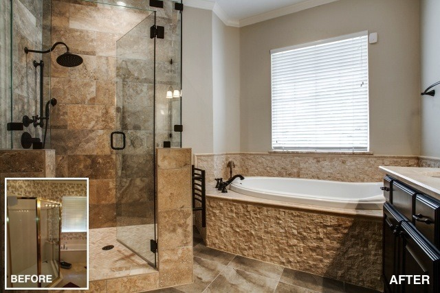 Before after on pinterest home renovation for Bath remodel frisco tx