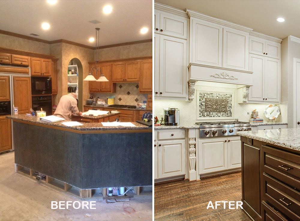 Home remodeling ideas and pictures dfw improved 972 377 7600 for Kitchen remodel ideas before and after
