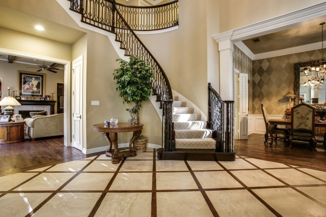 entry, winding staircase