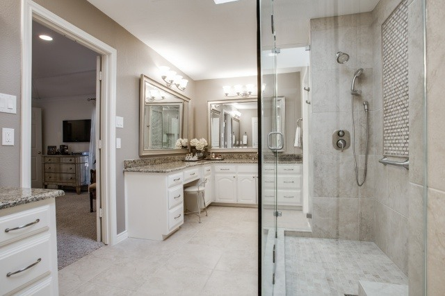 Master bathroom renovation in dallas dfw improved frisco for Bath remodel frisco tx
