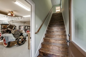 Upgrade Your Garage - Wooden staircase to space above garage