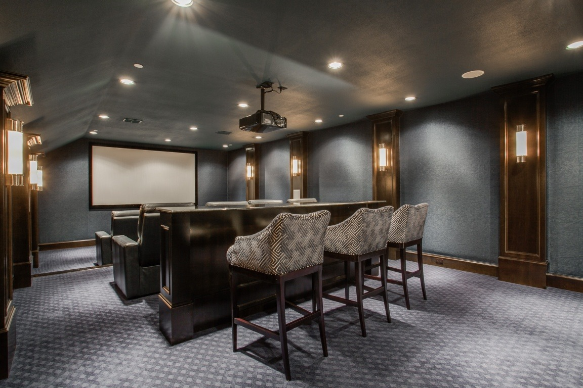 media room, Luxury Bonus Spaces: The Media Room