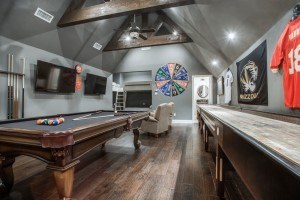 unused space - attic converted to game and recreational room