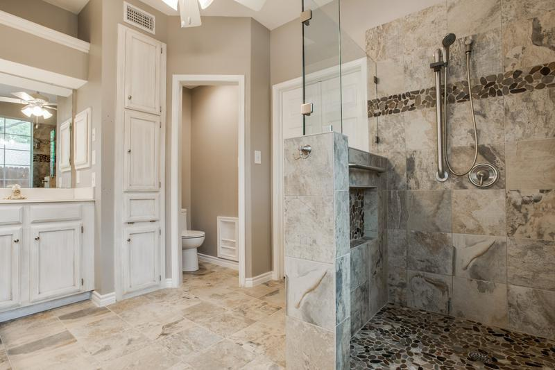 Gorgeous Walk In Shower Bathroom Remodel Dfw Improved 972 377 7600