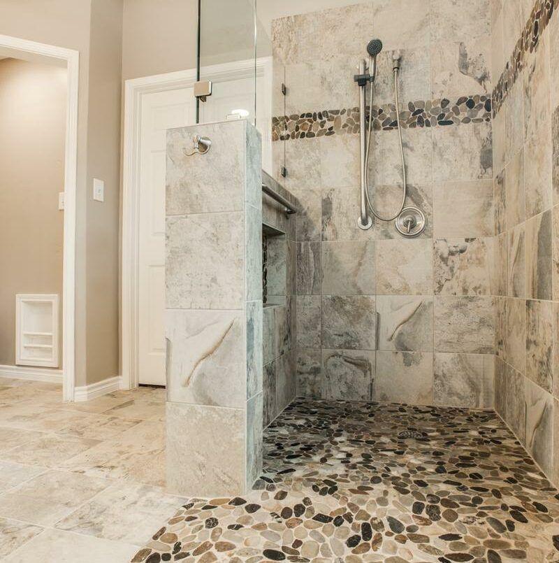 Gorgeous, Walk-in Shower Bathroom Remodel