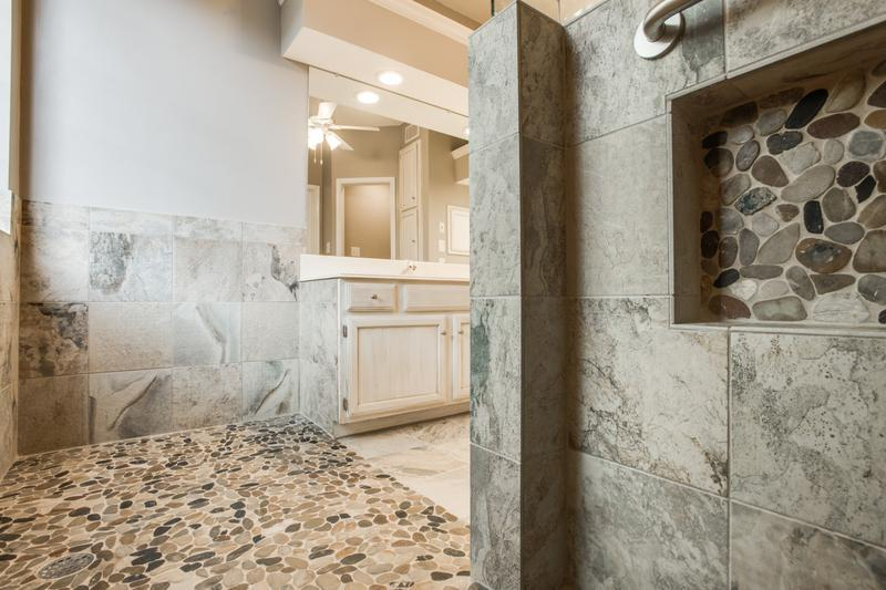 Gorgeous walk in shower bathroom remodel dfw improved for Bath remodel dfw