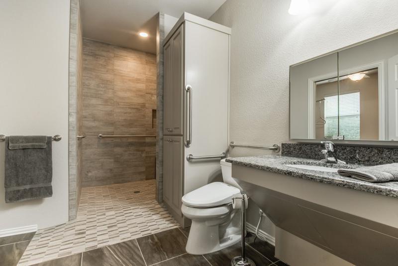 Master bedroom ada bathroom and outdoor space remodel for Ada bedroom