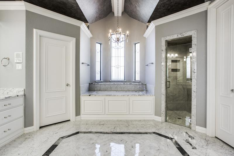Master Bathroom Renovation with Marble