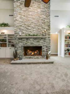 Home Maintenance - Stone Fireplace in Living Room