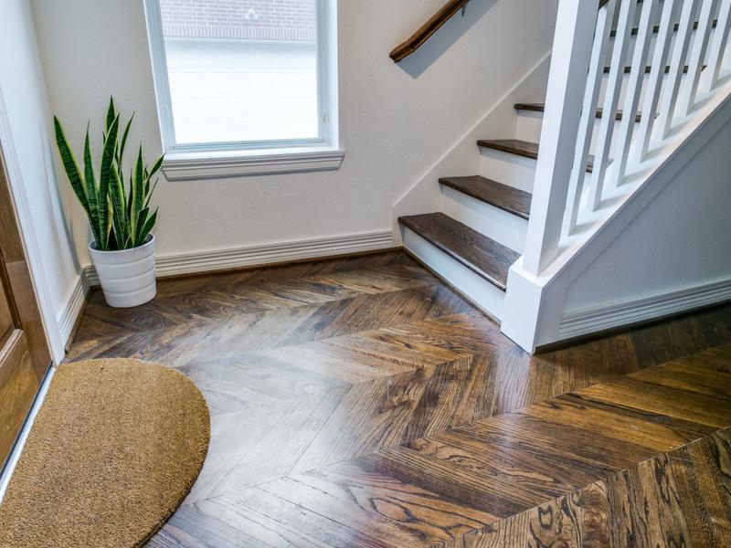 chevron pattern wood floors