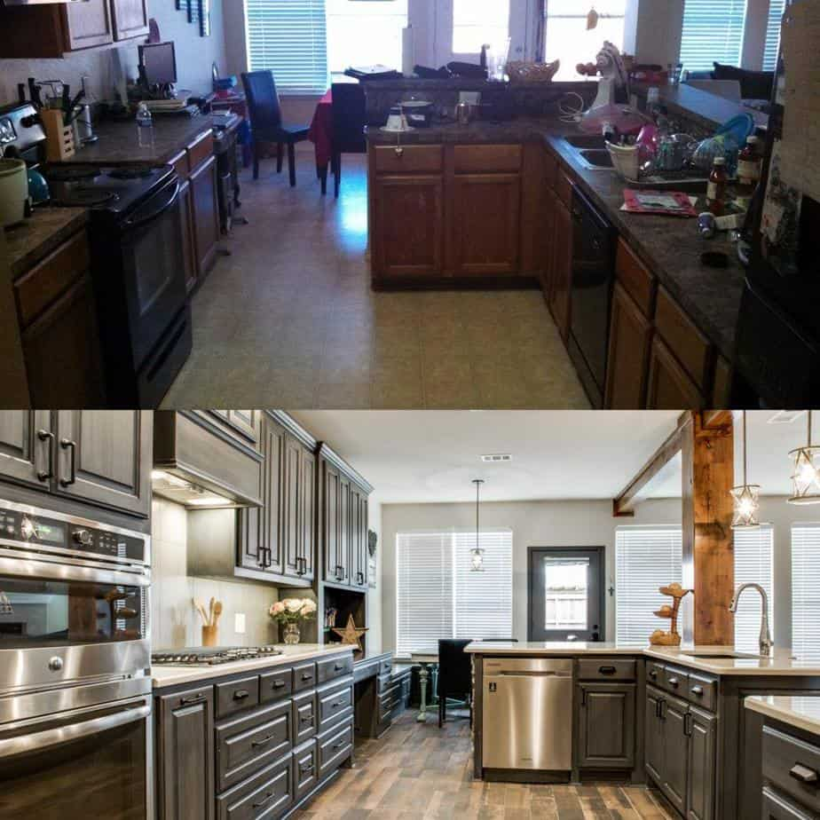 choosing a contractor - renovated kitchen before and after photo