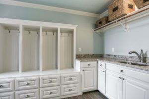 unused space - storage in mudroom