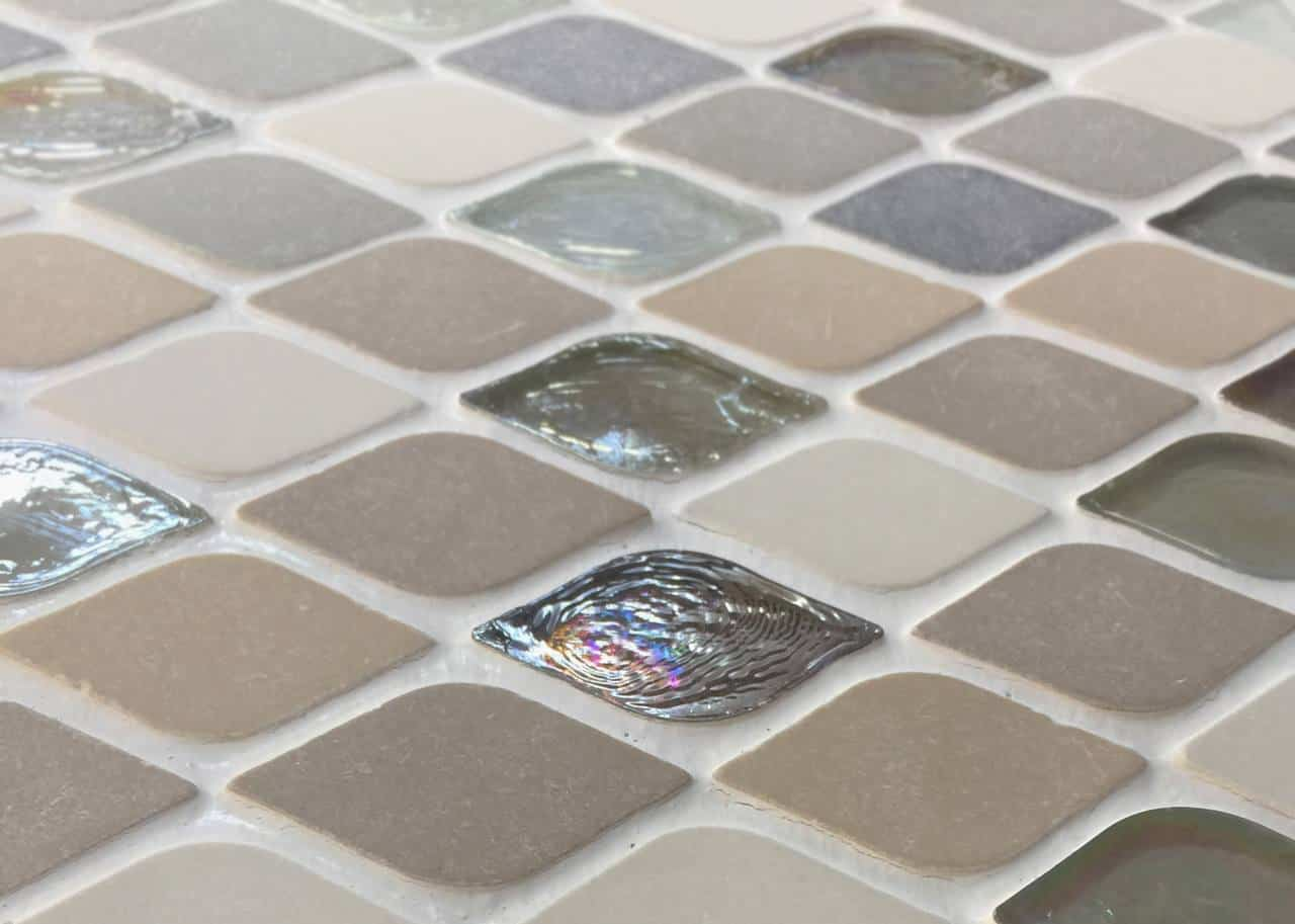 Tile selections at a remodeling showroom in North Dallas