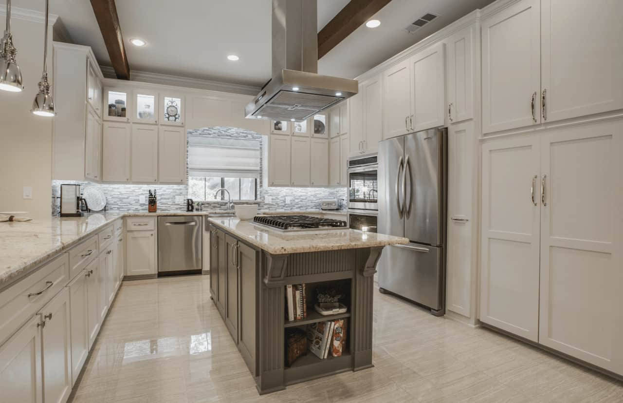 kitchen remodel with modern transitional home design