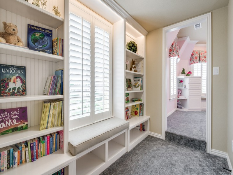 book storage, reading nook, shared space