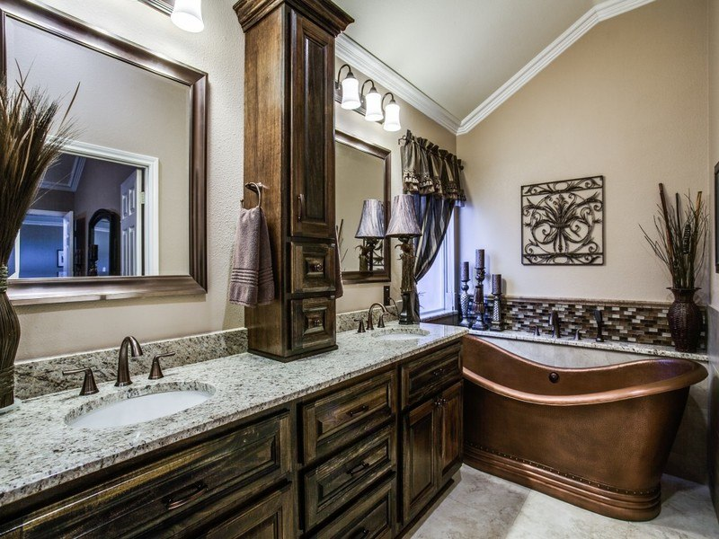 BathroomRemodel remodeledbathroomwithluxuriouscopperbathtub