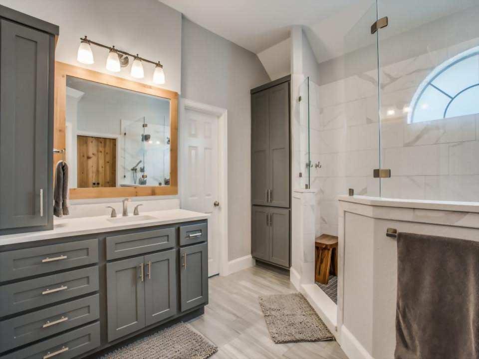modern rustic bathroom remodel frisco tx