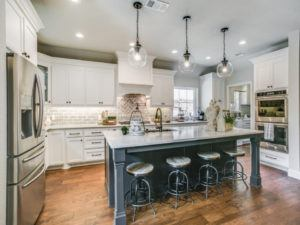Home Remodeling - kitchen with navy blue island