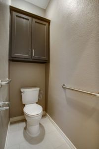 aging in place features - grab bar in bathroom