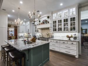 kitchen remodel - luxury kitchen with glass cabinet doors
