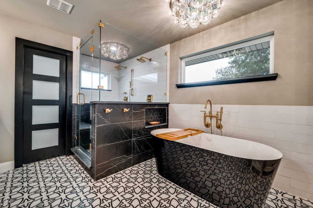 DFW Improved bathroom remodel