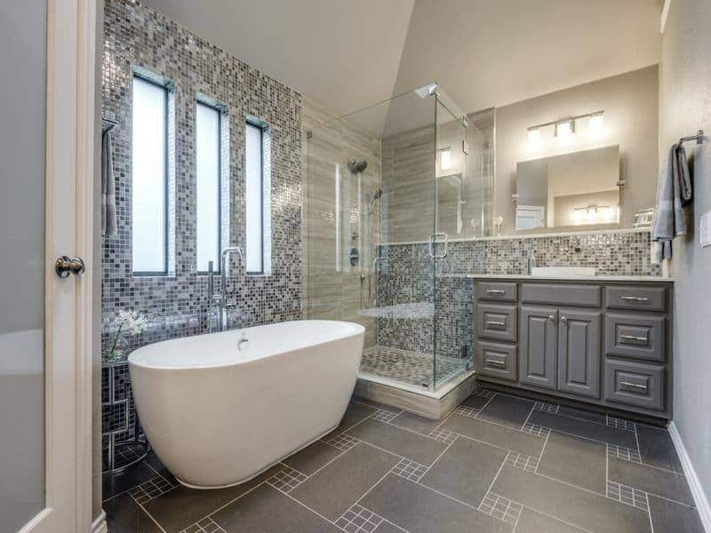 Home remodeling ideas and inspiration pictures dfw for Modern master bathroom